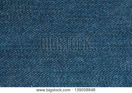 Blue denim jeans texture textile background, surface