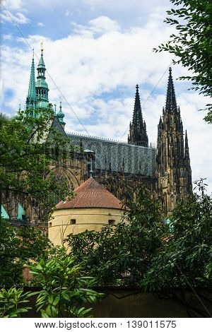 St. Vitus Cathedral is the most important Czech Catholic church and landmark of Prague Castle.