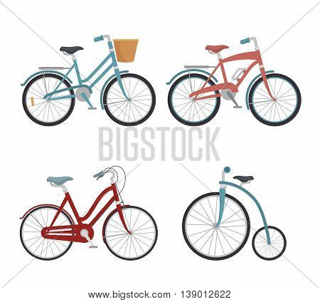 set of models of bicycles isolated icon design, vector illustration  graphic