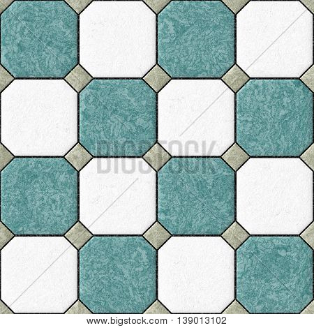blue white gray floor tiles seamles pattern texture background