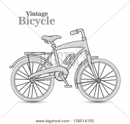 vintage Bicycle isolated icon design, vector illustration  graphic