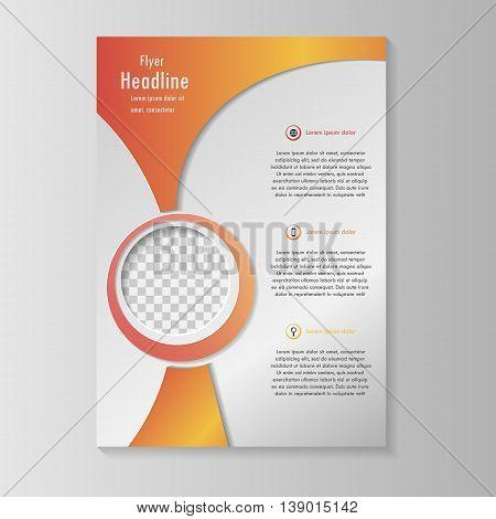Vector flyer template design. For business brochure, leaflet or cover