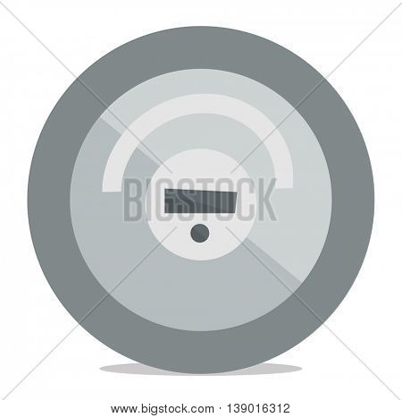 Robotic vacuum cleaner vector flat design illustration isolated on white background.