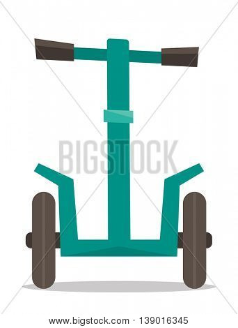 Electric scooter. Alternative transport vehicle. Vector flat design illustration isolated on white background.