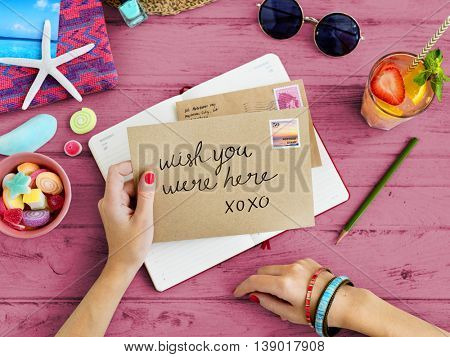 Letter Communication Connection Correspondence Summer Concept