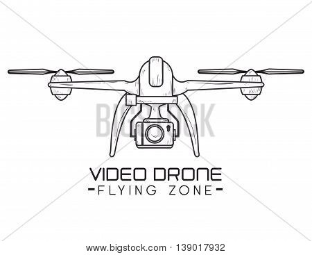 video drone technology isolated icon design, vector illustration  graphic