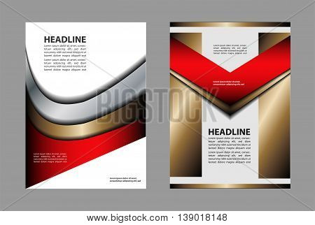 Vector Brochure Flyer design Layout template abstract
