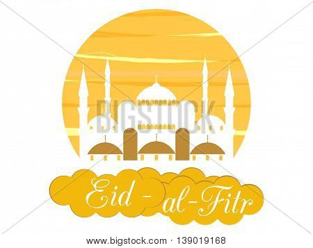 Ramadan Kareem, Blue Mosque. Eid Al Fitr Muslim Traditional Holiday. Eid Mubarak. Vector.