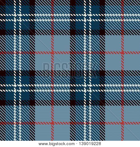 Seamless tartan pattern. Lumberjack flannel shirt inspired. Trendy blue tartan hipster style backgrounds. Suitable for decorative paper fashion design home and handmade crafts.Vector illustration