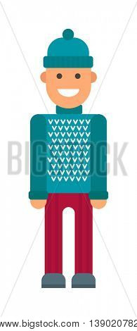 hipster boy vector illustration.