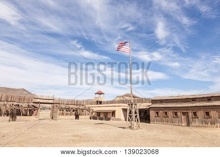 TABERNAS SPAIN - OCT 17 2015: Fort Bravo Texas Hollywood western style theme park in the Province of Almeria Spain