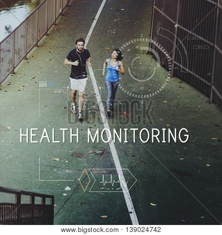 Health Fitness Healthcare Tracking Technology Concept