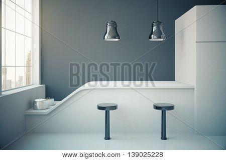 Dark Grey Kitchen Interior