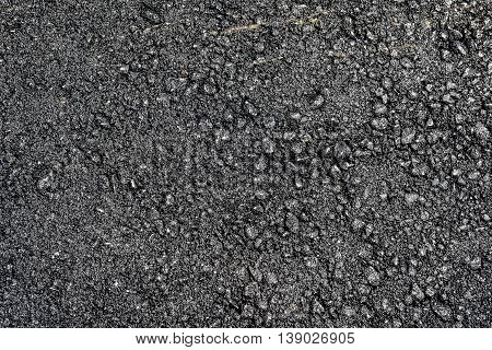 Real Fresh Black Asphalt Texture Background.