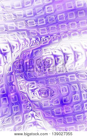 Abstract fantasy color splashes on white background. Creative purple fractal design for greeting cards or t-shirts.