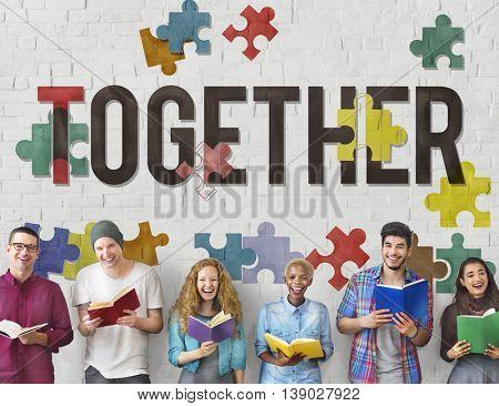 Together Togetherness Team Teamwork Connection Concept