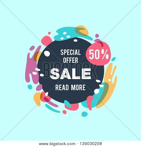 Sale abstract vector banner - special offer 50%.
