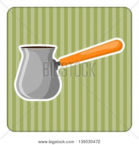 Turk colorful icon. Vector illustration in cartoon style