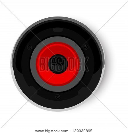 Vector illustration audio speaker isolated on white background. Speaker icon. Speaker top view