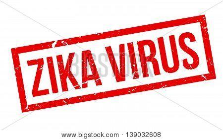 Zika Virus Rubber Stamp