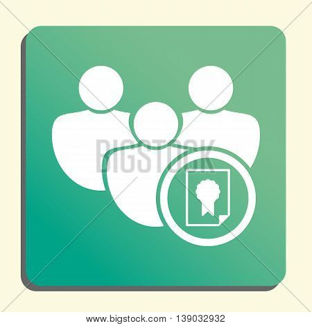 User Certificate Icon In Vector Format. Premium Quality User Certificate Symbol. Web Graphic User Ce