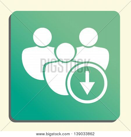 User Down Icon In Vector Format. Premium Quality User Down Symbol. Web Graphic User Down Sign On Gre