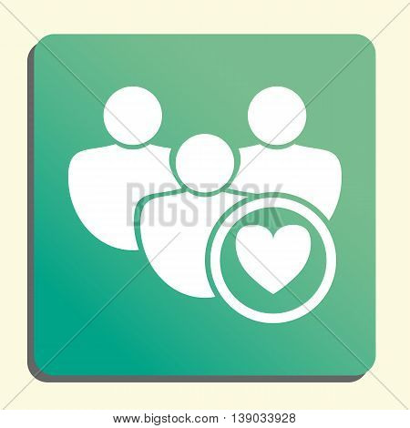 User Heart Icon In Vector Format. Premium Quality User Heart Symbol. Web Graphic User Heart Sign On