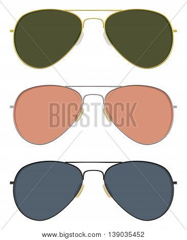 Classic aviator sunglasses in basic solid colors.