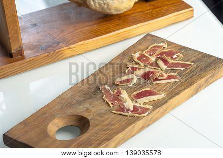 Cured Iberian Ham Leg, Bellota Ham. Gourmet Spanish Food