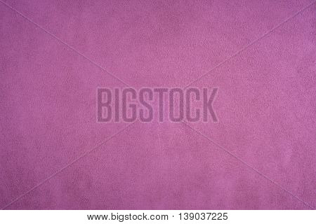 Closeup of natural background - purple suede.