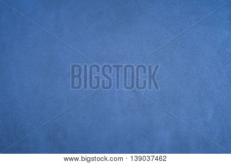 Closeup of natural background - blue suede.