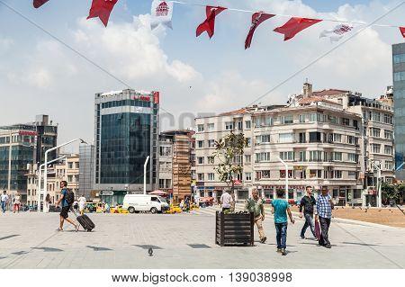 Ordinary People Walk On Taksim Square