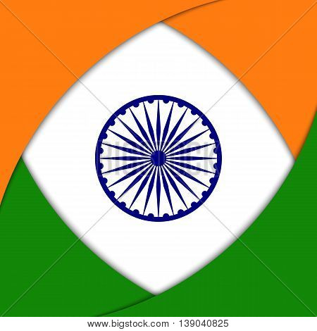 Vector background with Indian national flag colors and elements.