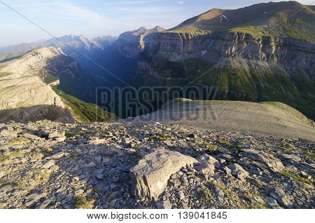 Canyon in Ordesa National Park, Pyrenees, Huesca, Aragon, Spain