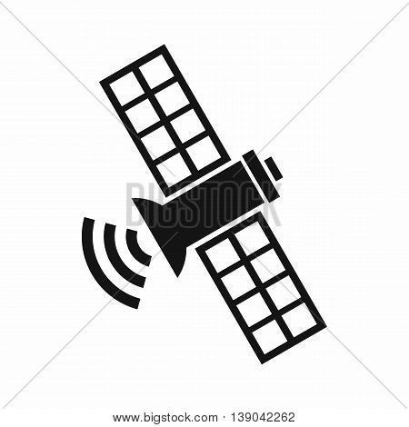 Space satellite icon in simple style isolated vector illustration