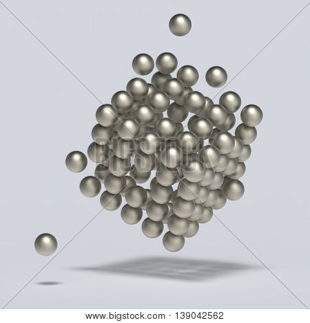 abstract spheres 3d render