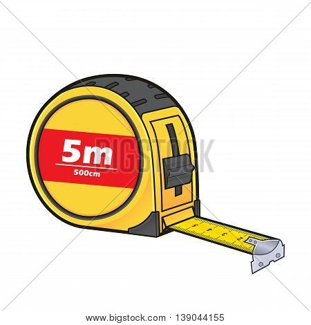 Vector cartoon clipart picture of a tape measure
