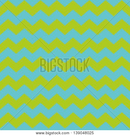 Zig zag chevron green and blue tile vector pattern