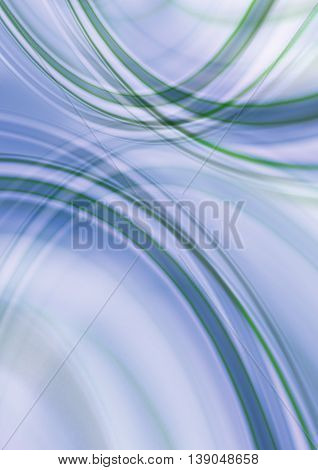 Abstract shade less bluish background with intersecting green and white oval stripes