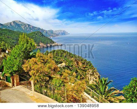 Northwest Majorca, Coastline, Top View