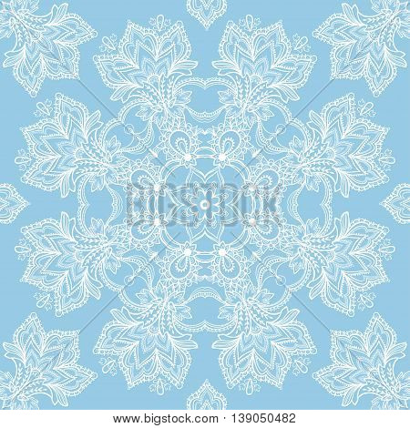 Lace vector design. Old lace background ornamental flowers. Floral background.