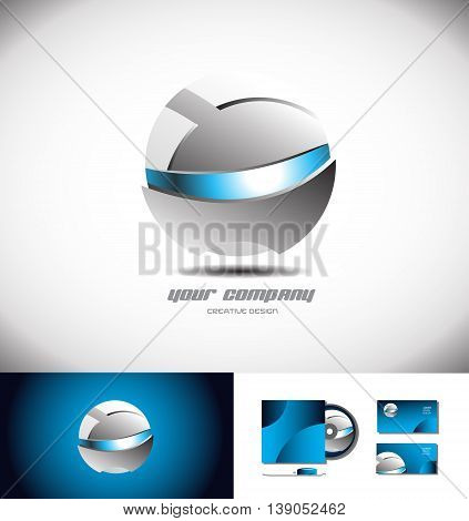 Vector company logo icon element template robot robotic sphere 3d games media corporate