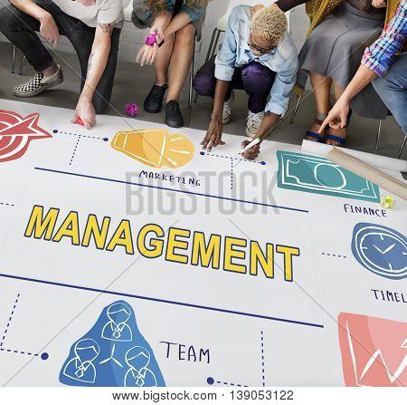 Management Business Coaching Process Strategy Concept