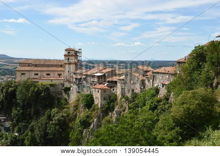 The old houses of the country in Artena in the Lazio region - Italy