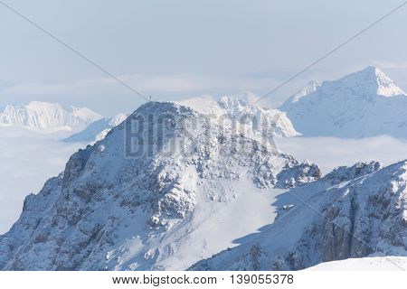 beautiful views to the lowly Dachstein and over much of the Dachstein mountain range