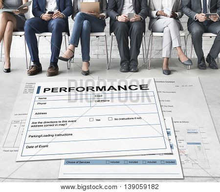 Performance Agreement Contract Legal Document Concept