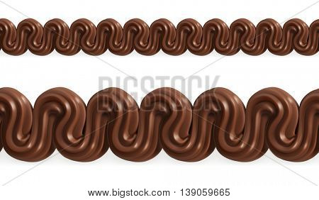 Chocolate whipped cream, vector seamless pattern mesh