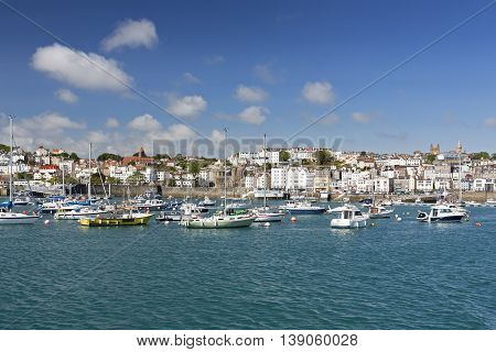 Town of Saint Peter Port on Guernsey, UK