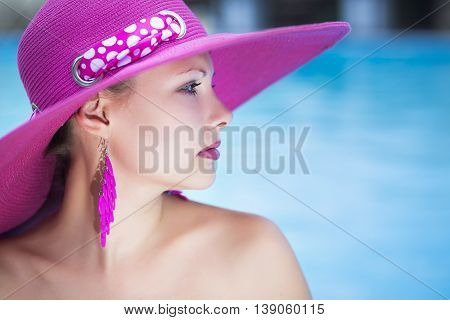 Portrait Of Young Caucasian Thoughtful Lady