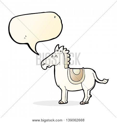 cartoon donkey with speech bubble